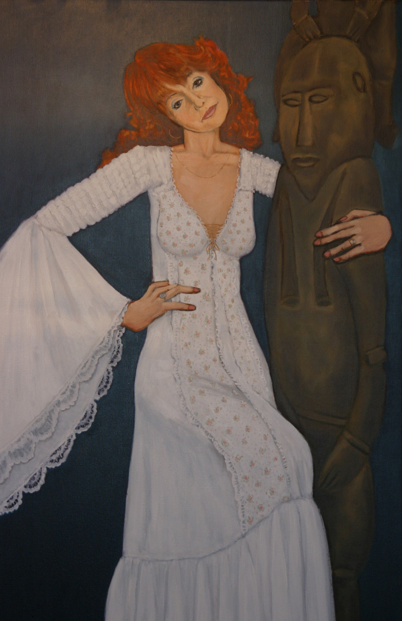 Doris Jorgensen portrait, 1987, acrylic on canvas