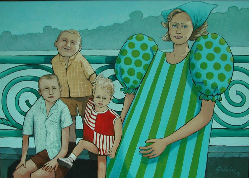 Family at Niagara, 1966, acrylic on canvas