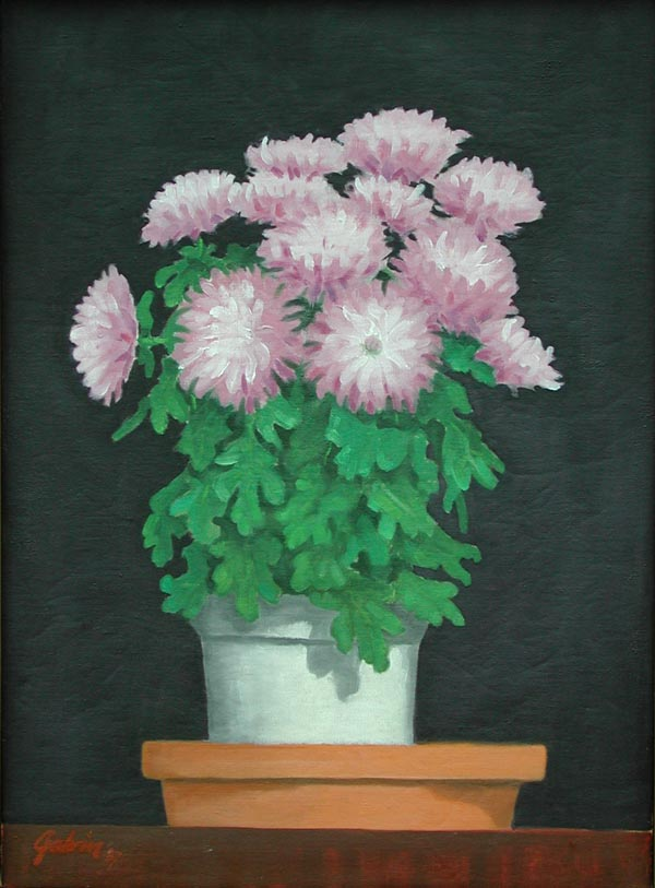 Mauve and Green on Charcoal, 1998, oil on canvas