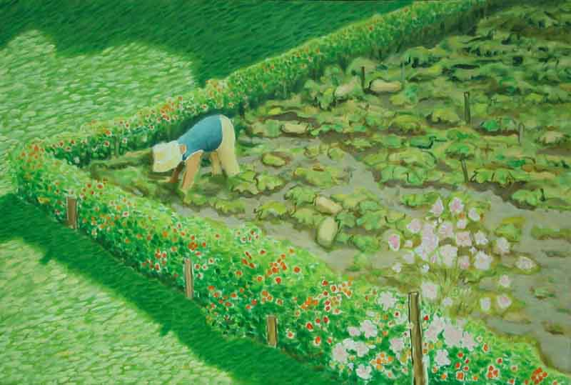The Squash Garden, 1999, acrylic on canvas
