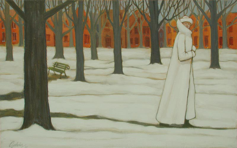 Lady in White Fur, 1986, acrylic on canvas