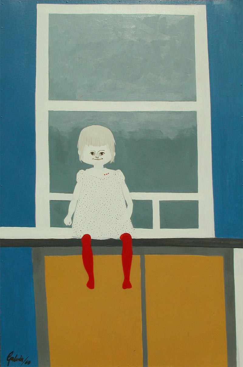 Tracy in Window, 1965, acrylic on canvas