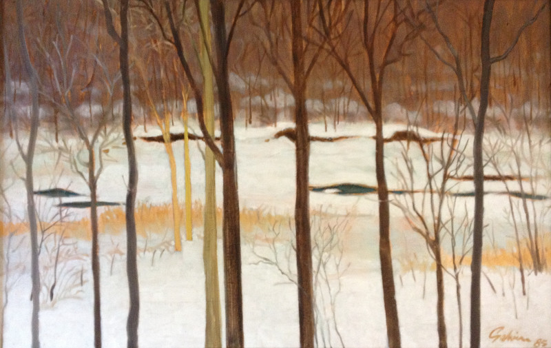 View from the Studio on the Don River, 1985, acrylic on canvas
